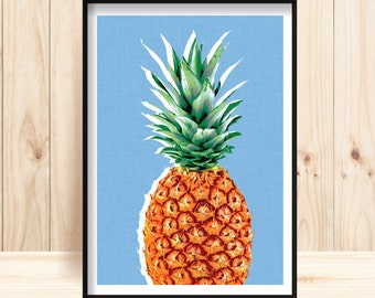 Pineapple Prints, Pineapple Instant Download, Pineapple Poster, Pop Art,  Kitchen Decor,