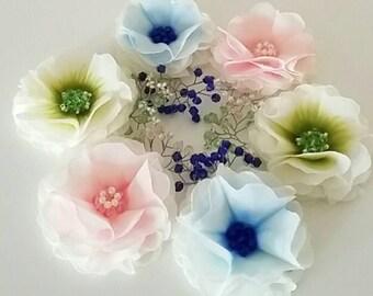 Blue Bridesmaid Hair Pin - Royal Blue Bridesmaid - Ivory Pink Bridesmaid - Green Wedding Hair Flower Girl Bobby Pin - Bridesmaid Headpiece