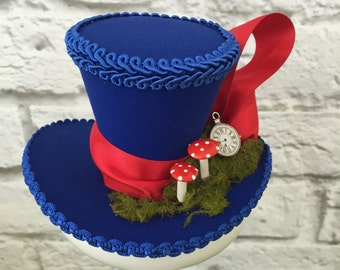 Alice in Wonderland Mini Top Hat, Mad Hatter Mini Top Hat