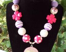 Doc McStuffin chunky bubblegum bead necklace