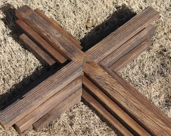 """40"""" Tall - Large Rustic Wood Cross Stained - Chapel, Church, Wedding, Sanctuary"""