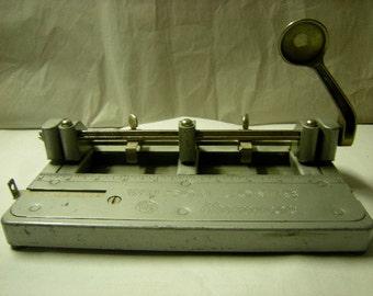 vintage hole puncher-wilson jones hummer-desk top-office collection-paperweight!!-