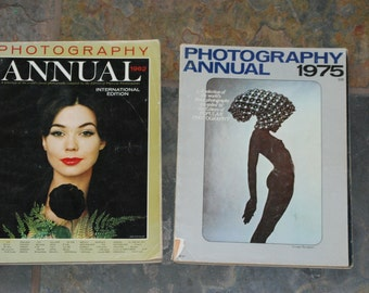 Photography Annual Magazine 1962 and 1975
