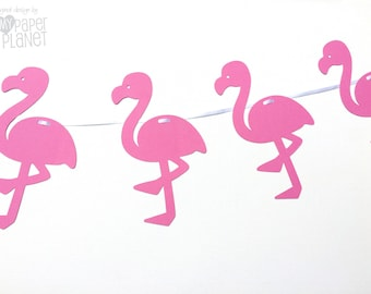 Pink flamingo banner. Bunting, garland. Birthday party, summer, celebrations, hawaiian party, photo prop, decorations.