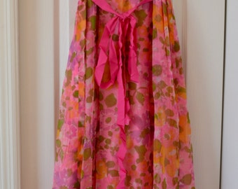 Vintage Flower Power Pink Dress