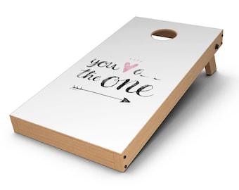 You are the One - Cornhole Board Skin Kit