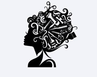 Hair Stylist Vinyl Decal