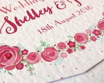 "Roses ""Petals & Polka Dots"" INVITATION STATIONERY invite Sample"
