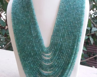 Emerald rondelle beads necklace excellent look inWHOLESALE PRICE.