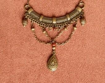 Ethnic necklace Jasper