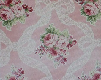 RURU BOUQUET~Light Pink~Cotton Fabric,Home Decor,Quilt Shabby Chic, Quilt Gate,Fast Shipping, F510