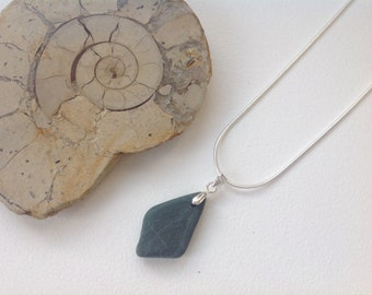 Pebble pendant, raw stone jewelry, found pebble necklace, natural rock, natural jewelry, smooth beach stone pendant