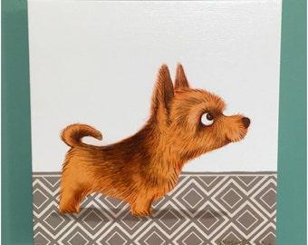 Canvas Print Norwich Terrier Dog Illustration Art
