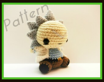 Crochet Pattern for Chibi Rick From Rick and Morty ~PATTERN~