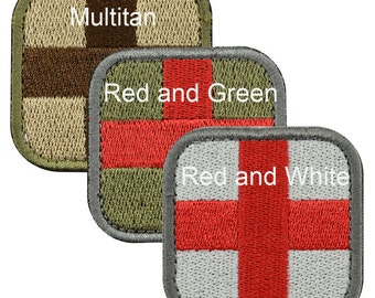 Medic Cross Tactical Embroidery Flag Patch
