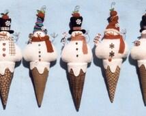 Primitive PATTERN Snow Cream Cones