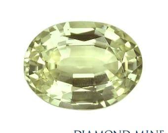 1.23 Carat Yellow Sapphire, Oval cut Sapphire, Loose Sapphire Gemstone, Yellow Gemstone, Non Heated Real Sapphire