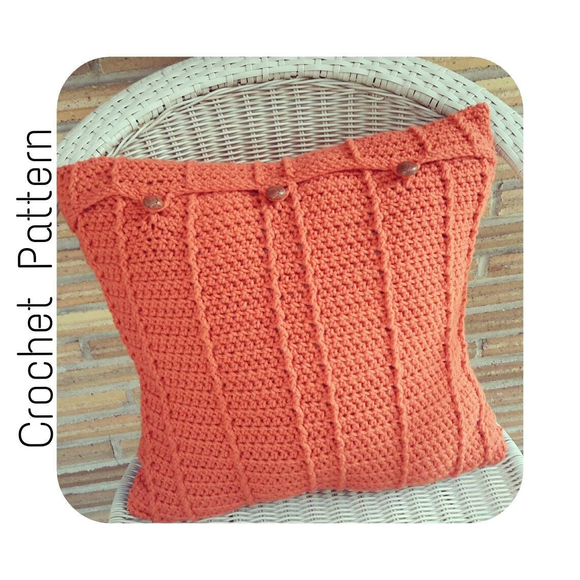Throw Pillow Case Pattern : Crochet PATTERN Throw Pillow Cover Crochet by ...