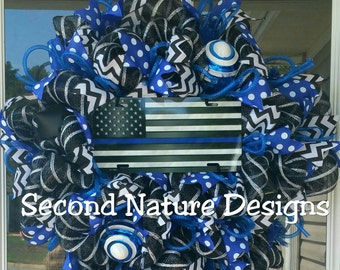 Police Wreath Etsy