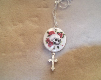 Skull and Cross Pendant Necklace - Steampunk
