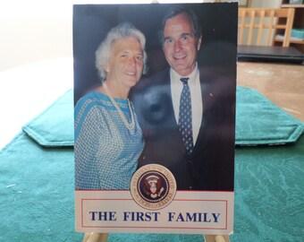 The First Family 1989 - 1993 Barbara & George Bush Postcard