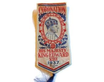 Coronation Souvenir King Edward VIII  King Edward VIII Coronation Souvenir 1937 English Coronation Souvenir 1937 King Edward VIII Souvenir