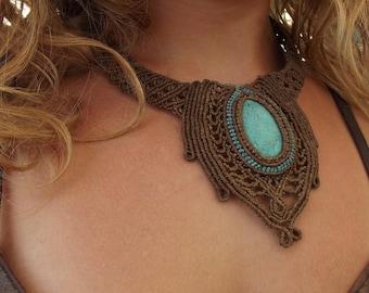 THE GODDESS NECKLACE ooak , gypsy princess bohochic bohemian pixie elven hippie faerie classical statement  gemstone festival clothing