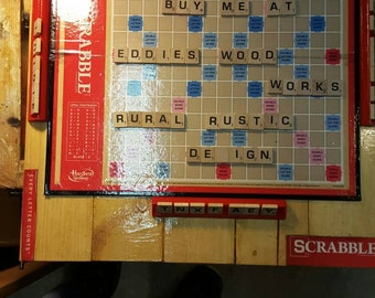 Rural/Rustic Scrabble Board Game