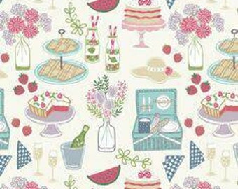 Lewis and Irene Picnic in the park patchwork craft quilting Cotton fabric fq