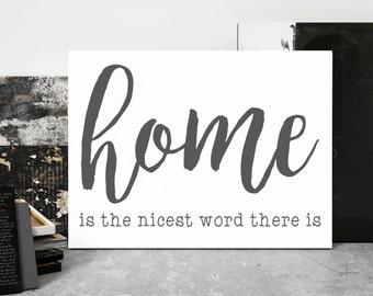 Laura Ingalls Wilder, Home is the Nicest Word, Canvas Art