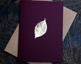 Leaf skeleton card