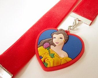 Red Velvet Bookmark w/Belle charm