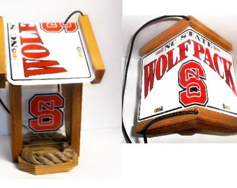 NC State WolfpackTwo-Sided Cedar Bird Feeder