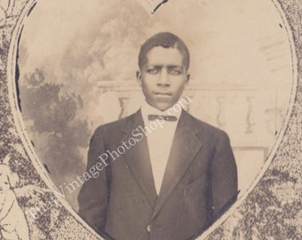 The Sweetheart Vintage Photograph, RPPC African American Dapper Man