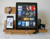 Docking Station, Wood iPad Dock, iPhone Stand, Cable Organizer, Mens Gift, Birthday Gift, Christmas gifts, geekery, geekery, BlackBerry