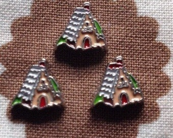 Gingerbread house floating charm for living memory locket