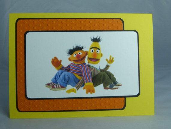 Handmade Greeting Card: Sesame Street Bert & Ernie Birthday