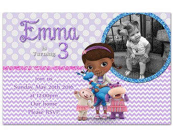 Doc McStuffins Invitations DIY Printable