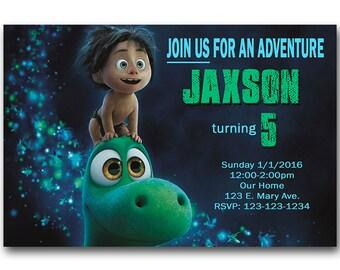 Good Dinosaur Invitation, Dinosaur Party, The Good Dinosaur Invitation, Custom Birthday Invitation, Birthday Invite