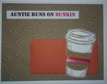 Handmade Card - Dunkin Donuts