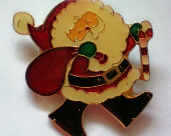 Santa Claus Christmas Pin marked Centenia 1980 - 4218