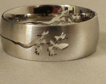 Stainless Steel Lizard Ring