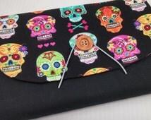 Erin Condren Planner cover planner case SALE Plum Paper Planner  adj wrap around multi pockets elastic & button closure planner sugar skulls