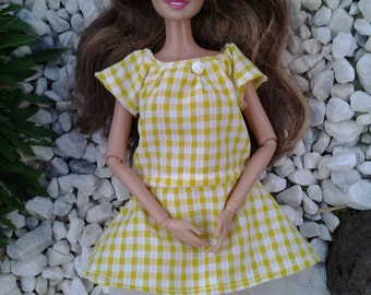 Handmade dress and underskirt- clothes for your Barbie doll