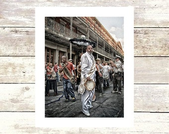New Orleans Art  TAMBOURINE MAN  New Orleans Art  Jazz Band  Second Line  Fine Art Photography  Limited Edition Jackson Sq