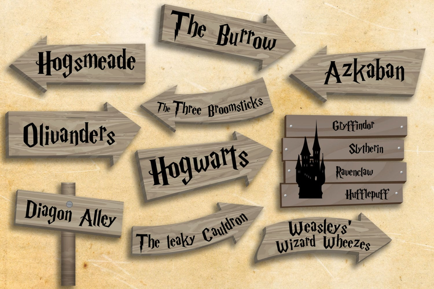 Clean image throughout harry potter decorations printable