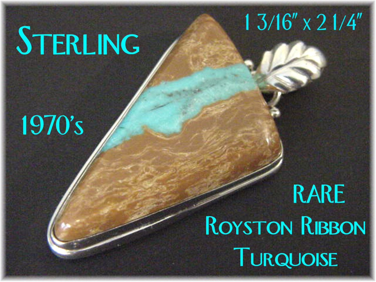 Royston wide ribbon turquoise sterling silver 2 1 4 for Royston ribbon turquoise jewelry