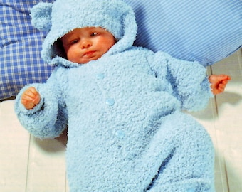 Knitting Pattern For Baby Teddy : Teddy bear cocoon Etsy