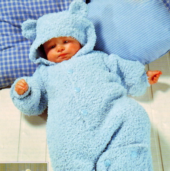 Knitting Pattern Sleeping Bag Baby : Knitting Pattern Baby Sleeping Bag Teddy Cocoon Sleep Sack