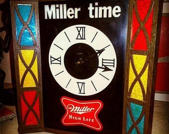 Miller Time 70's Clock